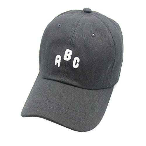 (HYIRI Nice Shapeembroidered Curved Hat Male and Female English Letter Cap Couple Visor Black)