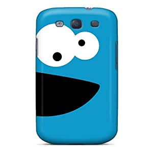 Unique Design Galaxy S3 Durable Tpu Cases Covers Cookie Monster Black Friday
