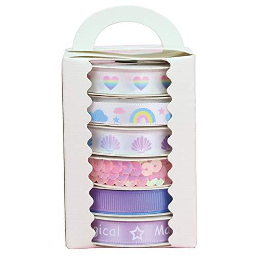 Midi Ribbon Candy Color Series Print Satin Ribbon Assorted, 3/8