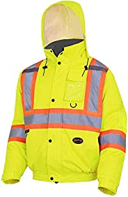 Pioneer V1150250-2XL Winter Quilted Safety Bomber Jacket-Waterproof