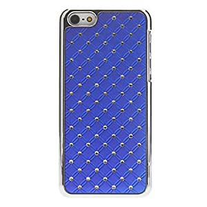 GHK - Delicate Rhombus Pattern with Diamond Hard Case for iPhone 5C (Assorted Colors) , Pink