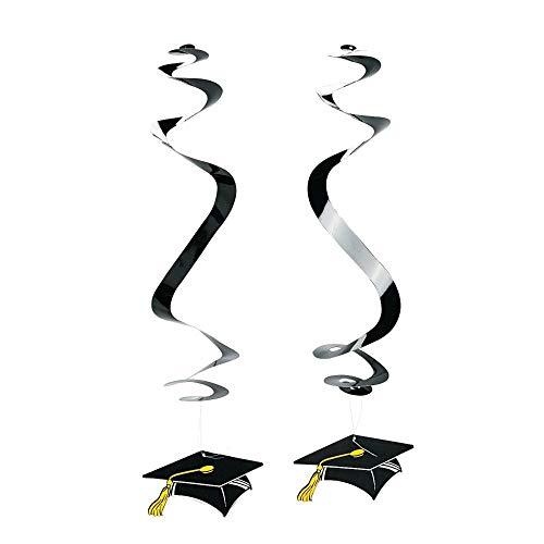 (Graduation Cap Dangling Swirls (1 dz))
