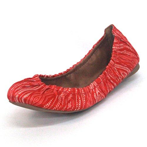 Lucky Brand bombas diseño de bailarina, estándar del Reino Unido 3,5, de £89 rojo - rojo