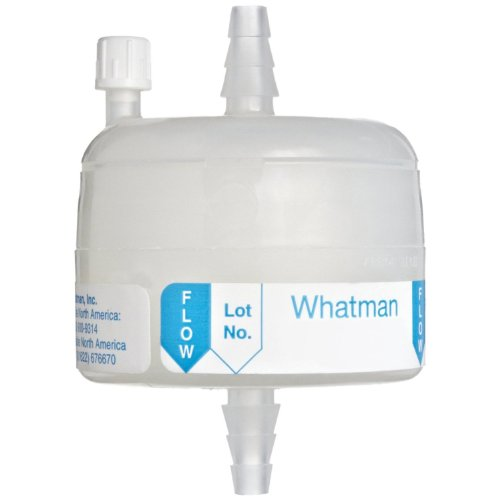 Membrane Capsule Filter - Whatman 6715-7502 Polycap TC 75 Polyethersulfone Membrane Capsule Filter with SB Inlet and Outlet Plus Filling Bell, 60 psi Maximum Pressure, 0.2/0.2 Micron