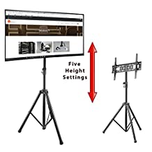 "Boost Industries AVT-3770T Adjustable Deluxe Portable Tilting Tripod TV Stand for 37"" - 70"" Displays (Compatible Mount for Samsung, LG, Sony, Vizio, Haier, Insignia LED OLED TVs)"