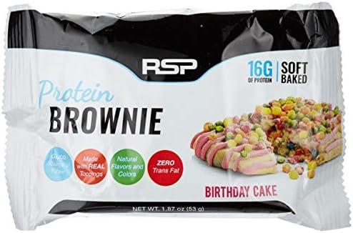 Rsp Nutrition Protein Brownie (12x53g) Birthday Cake 1er PackOhne Pfand(1 x 636 grams)