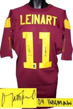 Autographed Matt Leinart Jersey - Maroon Custom Stitched 04 Heisman XL Hologram - Autographed NFL Jerseys - Matt Leinart Nfl Jersey