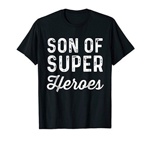 Son Of Super Heroes | Funny Child Boy Superhero Movie Shirt