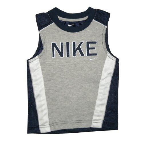 Nike Infants Baseball (NIKE Infant Athletic Comfortable Fit Sleeveless Jersey Shirt / Vest - Grey (Size: 24M ))