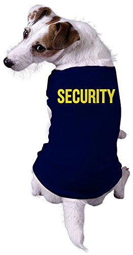 Dog Shirt Security Funny Sarcastic Tee for Puppy (Navy) - XXL -