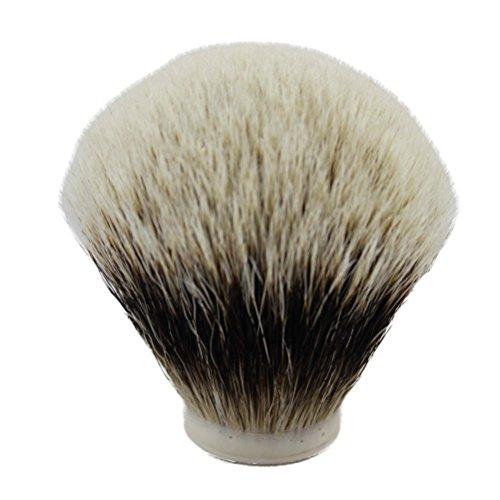 VIGSHAVING 30mm Diameter Finest Two Band Badger Hair Shaving Brush Knot