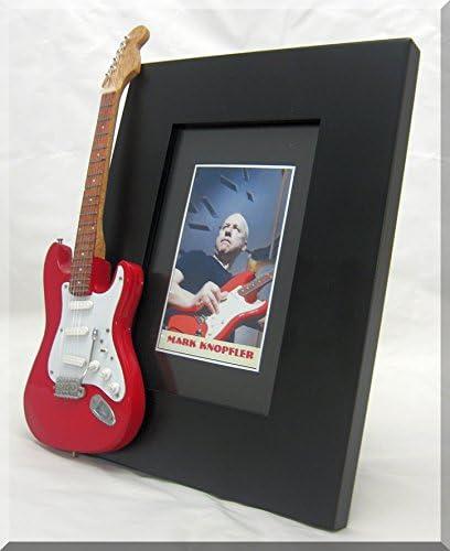 Mark Knopfler guitarra en miniatura marco de fotos una situación ...