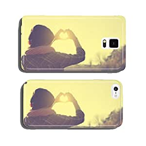 Love symbol in sunset cell phone cover case iPhone6 Plus