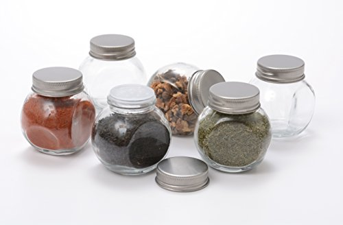 Anchor Hocking Glass Mini 3.4 Ounce Penny Spice Jar, Set of 12