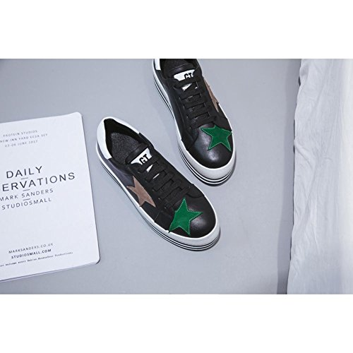 Running A2801 Correa Black de con WSXY Aire KJJDE Simples Plataforma Libre Sneakers Gráficos Zapatillas Zapatos Mujeres Wedges R4wvZX