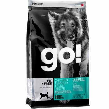 Petcurean Go Fit + Free Adult Dog Food Chicken Turkey + Trout (6 lb)