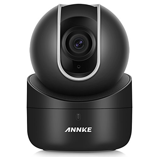 ANNKE HD 720p Wireless Security Camera Wi-Fi IP Camera with 2-Way Audio and Remote Pan/Tilt (Black)
