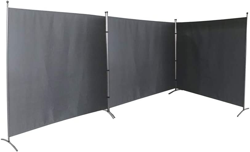 "3 Panel Private Cubicle Room Divider – Folding Partition Privacy Screen for School, Church, Office, Classroom, Dorm Room, Studio, Conference - Each Side Panel Size 72"" W X 71"" - All 3 Together 216'' L"
