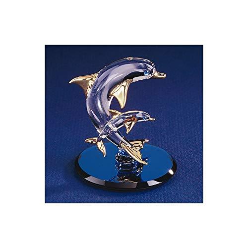 - Dolphin & Baby Glass Figurine