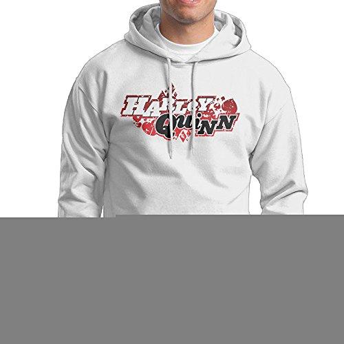 [UFBDJF20 Harley Quinn Men's Fleece SweatshirtWhite S] (Lone Ranger Costume Shirt)