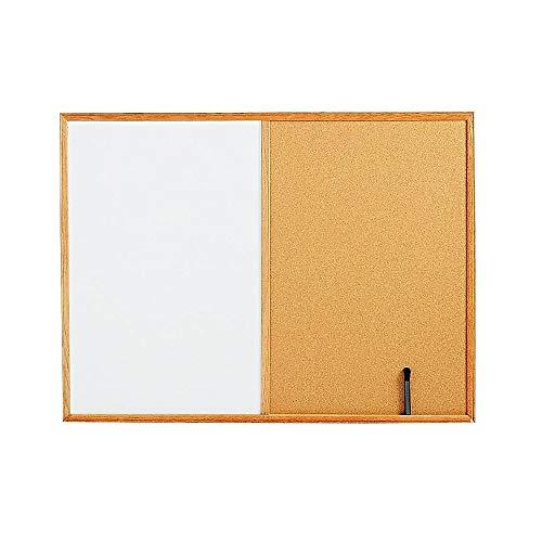 - Staples 1682167 Whiteboard Cork Bulletin Board Oak Frame 3'W x 2'H
