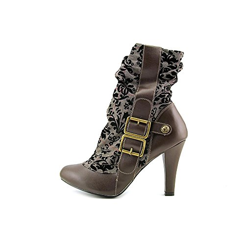 Demonia tweed Brown mujer Botas Leather Vegan raFrxq