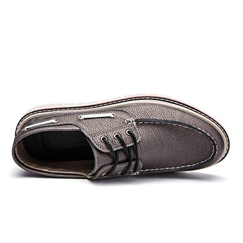 Chaussures À Lacets Classique Pour Hommes Chaussures À Trois Yeux Mocassins Causales Chaussure Dentraînement B66 Marron