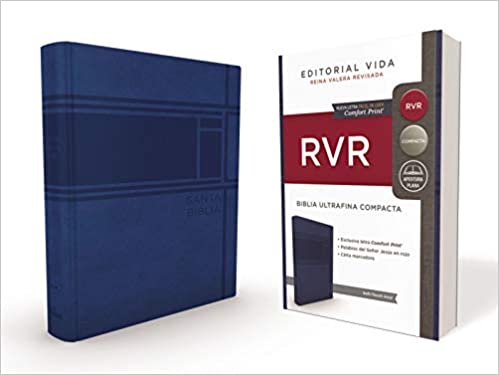 RVR Santa Biblia Ultrafina Compacta, Soft-touch, Azul (Spanish Edition): Reina Valera Revisada: 9781404110700: Amazon.com: Books