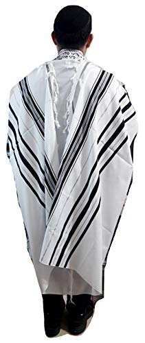(Kosher Tallit/talit /Prayer Shawl Acrylic 55x74