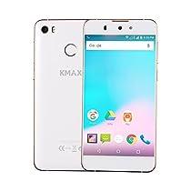 ECVILLA KMAX one 4G Android Smartphone 5 pollici ( MTK6753M Octa-Core 1.3GHz, 2 GB di RAM 16 GB ROM, Dual Camara 13MP, Dual SIM,GPS, Fingerprint ID)