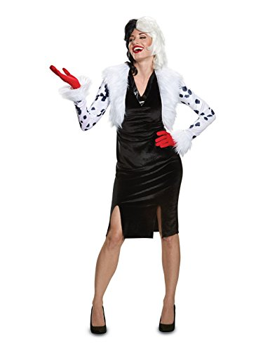 Disguise Women's Plus Size Cruella De Vil Deluxe Adult Costume, White, XL (18-20)]()