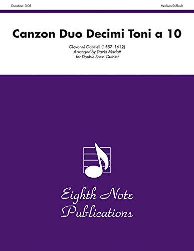 Canzon Duo Decimi Toni a 10: Score & Parts