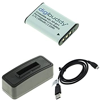 Cargador + USB + Batería NP-BY1 F. Sony Action Cam HDR-AZ1 ...