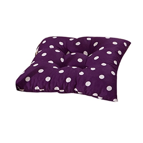 Bestpriceam Soft Home Office Cotton Polka Dot Seat Cushion Buttocks Chair Pads (Purple) (Patio Chair Cushions Cheap)