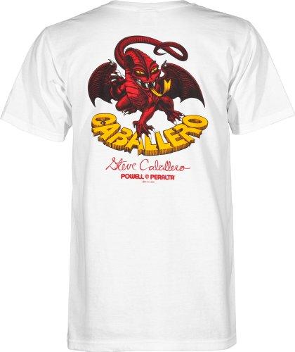 Powell-Peralta Cab Classic Dragon T-Shirt, White, X-Large