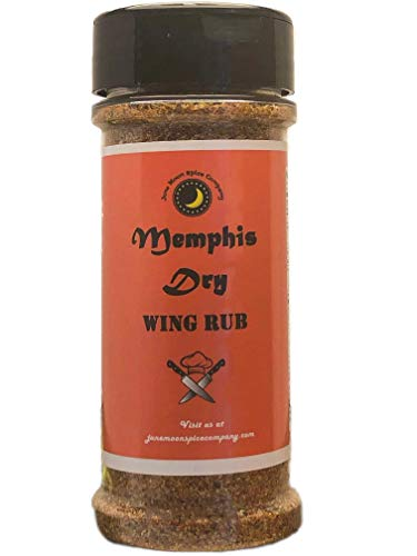 Memphis Dry Wing Rub | Crafted in Small Batches with Farm Fresh Herbs for Premium Flavor and Zest (Best Smoked Chicken Wings)