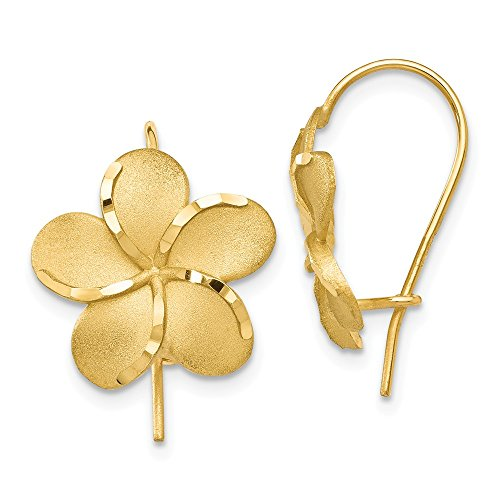 14k Yellow Gold Plumeria...