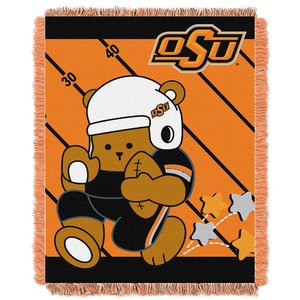 The Northwest Company Officially Licensed NCAA Oklahoma State Cowboys Fullback Jacquard Baby Throw Blanket, 36