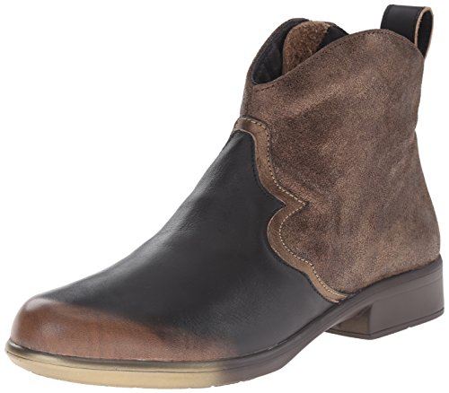 Women's Grecian Naot Sirocco Leather Shimmer Bronze Volcanic Gold Suede Boot Brown RxFqwH