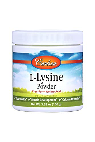 Carlson L-Lysine Powder 960 mg, Amino Acid Powder, 100 g Jar