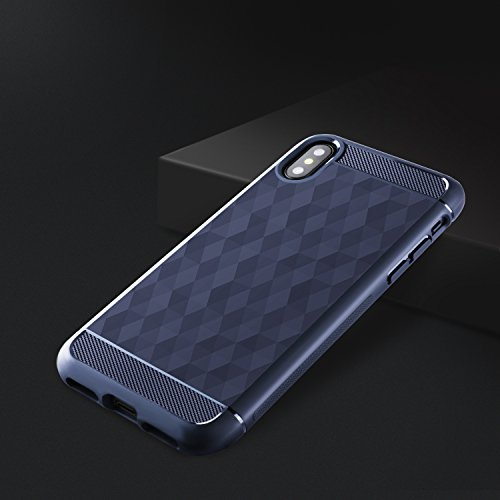 "iPhone X Hülle , ivencase Silikon Handyhülle Cover Weich Premium-TPU Schutzhülle Backcover für Apple iPhone X 5.8"""