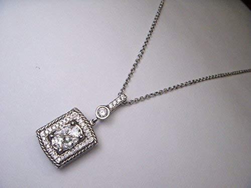 Fabulous Antique Estate 14K White Gold Diamond Pendant Slide - Pendant Estate Gold
