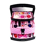 TRULIL Children's Pretend Makeup Set Cosmetic Case 3 Layers Professional Washable Makeup Set 23 Pcs powder cake lipstick eye shadow Beauty Salon Toys Girls Vanity Beauty Set with Make-up Box