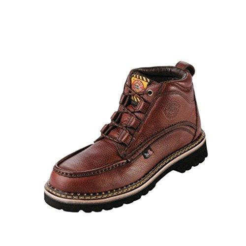 """Justin Men's Rustic Cowhide Chukka 6"""" Boot Steel Toe Brown 10.5 D(M) US"""