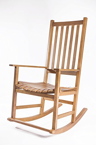 MYMQ Solid Hardwood Rocking Chair Porch Rocker With Foot Pedal