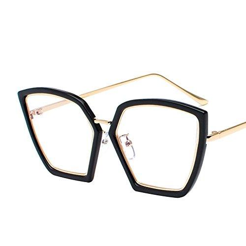 Aoligei Élégance irrégulière lunettes de soleil femme lunettes de soleil rétro visage rond Corée de marée 5jttu