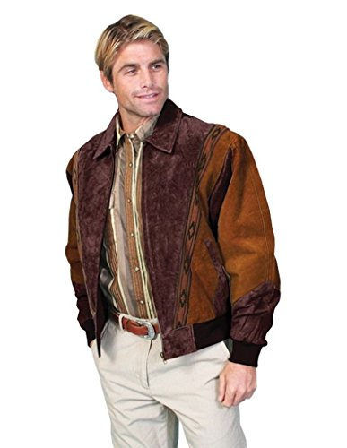 Scully Men's Boar Suede Leather Arena Jacket Chocolate Medium