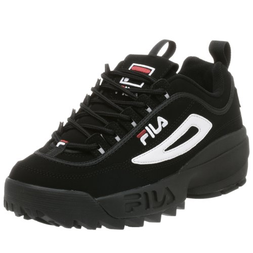 Fila Men's Disruptor II Sneaker - Black/White/Vin Red - 1...
