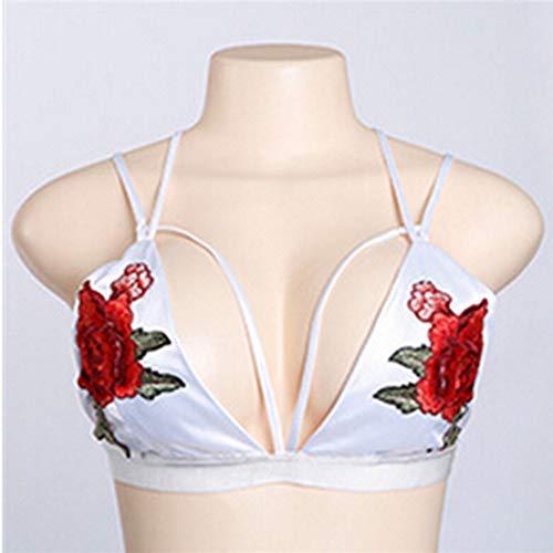 KIMODO Ropa de Mujer Tirantes Mostrar Volver Bordado lencería Sexy Lencería Mujer Erótica Vestido: Amazon.es: Ropa y accesorios