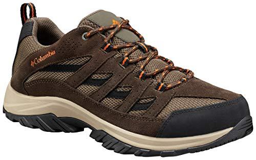 Columbia Men's Crestwood Wide Hiking Shoe, camo Brown, Heatwave, 10.5 US